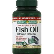 Nature's Bounty Fish Oil, Cholesterol Free, Omega-3, 1000 mg, Softgels