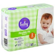 Baby Basics Diapers, Flexible Fit, Size 2 (12-18 lb)