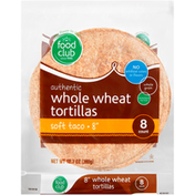 Food Club Whole Wheat Authentic Soft Taco Tortillas