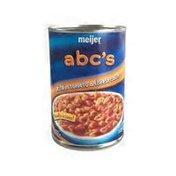 Meijer abc's pasta in tomato & cheese sauce