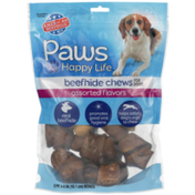 Paws Happy Life Assorted Flavors Beefhide Chews For Dogs