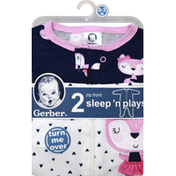 Gerber Sleep 'N Plays, Zip Front, 0-3 Months