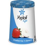 Yoplait Light Fat Free Yogurt, Strawberries and Bananas