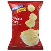 Shoppers Value Potato Chips, Gluten Free, Wavy