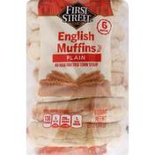 First Street English Muffins, Plain
