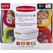 Rubbermaid Meal Kit, Balance, 11 Pieces