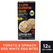Life Cuisine Tomato & Spinach Egg White Egg Bites