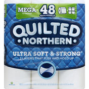 Quilted Northern Bathroom Tissue, Mega Rolls, Unscented, 2-Ply
