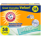 Arm & Hammer Powder Laundry Detergent, Free Of Perfume And Dyes, 58 Loads