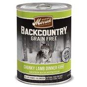 Merrick Backcountry Chunky Lamb in Gravy Grain Wet Dog Food