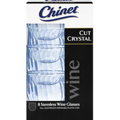Cut Crystal Stemless Wine Glasses