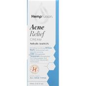 HempFusion Acne Relief Cream, All Skin Types