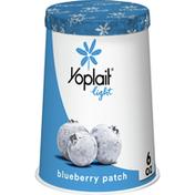 Yoplait Light Yogurt, Blueberry Patch, Fat Free Yogurt