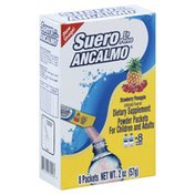 Suero En Polvo Ancalmo Powder Packets, for Children and Adults, Strawberry Pineapple