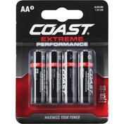 Coast Batteries, Alkaline, Extra Performance, AA