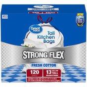 Great Value Strong Flex Fresh Cotton Tall Drawstring Kitchen Bags  Great Value Strong Flex Fresh Cotton 13 gal. Tall Drawstring Kitchen Bags
