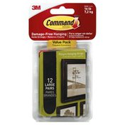 3M Command Strips, Picture Hanging, Large, Value Pack