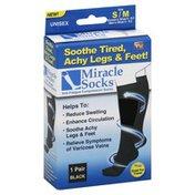 Miracle Socks Socks, Unisex, S/M, Black