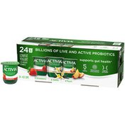 Activia Probiotic Strawberry, Vanilla, and Peach Variety Pack Yogurt