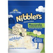 Crystal Farms Nibblers Mozzarella Cheese Cubes