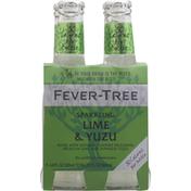 Fever-Tree Sparkling, Lime & Yuzu, 4 Pack