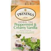 Twinings Peppermint & Creamy Vanilla Herbal Tea Bags