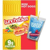 Lunchables Mini Hot Dogs Meal Kit with Capri Sun Roarin' Waters Wild Cherry Drink & Sour Patch Kids Candy