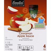 Essential Everyday Apple Sauce, Cinnamon, Fruit Pouch