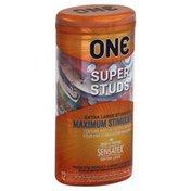 One Condoms, Lubricated, Super Studs