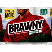 Brawny Paper Towels, Full Sheet, Large Rolls, 2-Ply