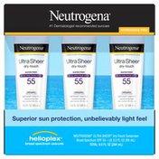 Neutrogena® Ultra Sheer Dry-Touch Sunscreen Lotion Broad Spectrum SPF 55,