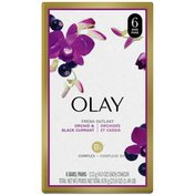 OLAY Fresh Outlast Soothing Orchid & Black Currant Beauty Bar 4 oz, Pack of 6