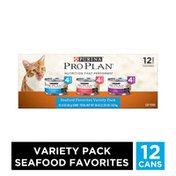 Purina Pro Plan Wet Cat Food Variety Pack, Seafood Favorites