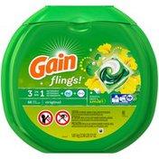 Gain Flings! Original Scent 3 in 1 Laundry Pacs: Detergent + Oxi Boost + Febreze 66 Count Laundry