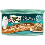 Purely Fancy Feast Medleys Tender Turkey Tuscany With Long Grain Rice & Garden Greens Wet Cat Food