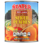 Stater Bros. Markets 100% Juice Yellow Cling Sliced Peaches