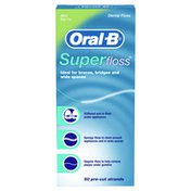 Oral-B Floss Pre-Cut Strands, Dental Floss For Bridges, Braces And Wide