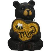 Publix Valentine Bear, with Honeycomb Heart