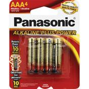 Panasonic Battery, Alkaline, AAA