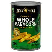 Tiger Tiger Whole Baby Corn, Cooked in Water