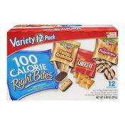 Kellogg's 100 Calorie Right Bites Fudge Grahams, Cheez-It & Mini Fudge Stripes - 12 CT