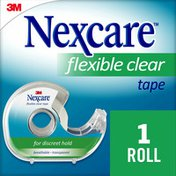 Nexcare Nexcare™ Flexible Clear First Aid Tape, Dispenser, 3/4 in x 7 yds