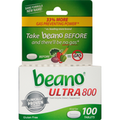 Beano Ultra 800 Food Enzyme Dietary Supplement Tablets