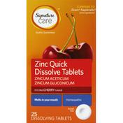 Signature Care Zinc, Quick Dissolve Tablets, Cherry Flavor