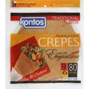 Kontos Crepes, French-Style, Traditional Flavor
