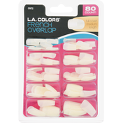 L.A. Colors Artificial Nail Tips, French Overlap, Full Cover Medium Length