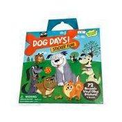 Peaceable Kingdom Fun Dog Days Reusable Sticker Tote