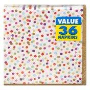 Amscan Beverage Napkins, Rainbow Confetti, 2-Ply