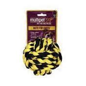"""Multipet 4"""" Multi Colored Nuts for Knots Dog Toy"""
