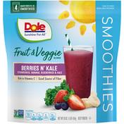Dole Berries 'n Kale Fruit & Veggie Blends Smoothies
